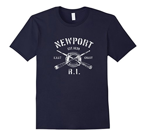Mens Newport Rhode Island RI T-Shirt Vintage Nautical Boating Tee Large - The Shop Ri Newport