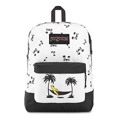 JanSport Black Label Superbreak Backpack - Lightweight School Bag | Banana Hammock Print
