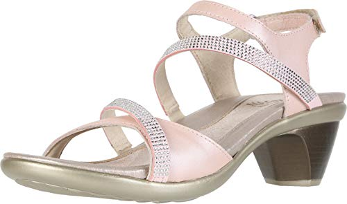 - NAOT Footwear Women's Innovate Heel Pearl Rose Lthr/Light Pink w/Silver Rivets 4 M US