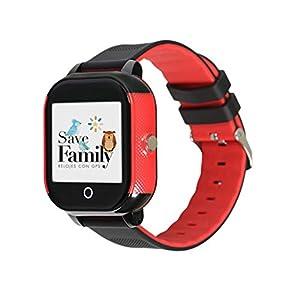 Reloj con GPS para niños Save Family Modelo Junior Acuático. (Negro) 41JUXigUU 2BL