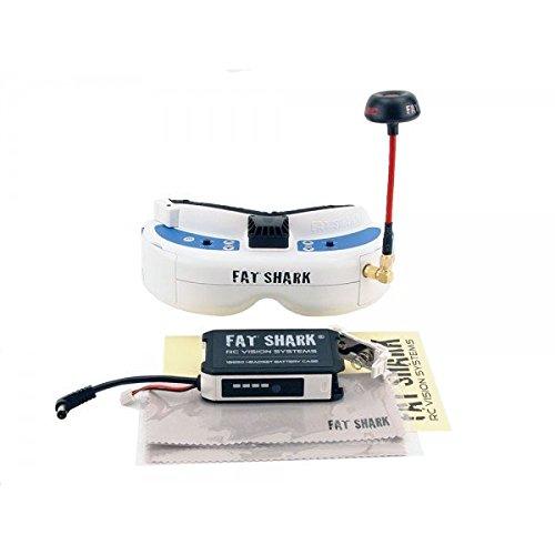Electronics : Fat Shark FSV1063-03 Dominator V3 Kit Bundle(with Receiver FSV2442 and Antenna)