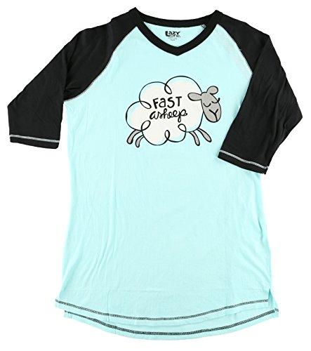 Fast Asheep Women's Legging Pajama Shirt TOP by LazyOne | Pajama TOP for Women (X-Large)]()