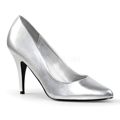 Pleaser Women's Vanity Pump,Silver,11 -