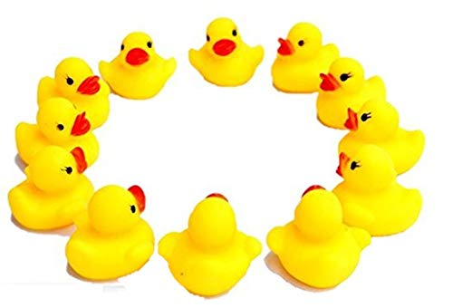 (Dazzling Toys Rubber Duck Ducky Duckie Baby Shower - Pack of 12 (D102))
