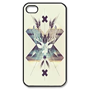 For Apple Iphone 4/4S Case Cover Cool Deer Head, For Apple Iphone 4/4S Case Cover Deer, [Black]