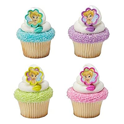 Tinker Bell I Believe in Fairies Cupcake Rings - 24 pc: Toys & Games