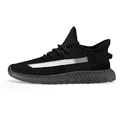 SF Men's Mesh Casual Walking Shoes Fashion Sneakers Running Shoes Lightweight Breathable Black-39