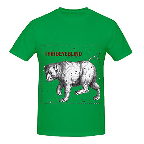 Third Eye Blind Ursa Major Greatest Hits Men Customized Tee Shirts Green (Homer Simpson Muscle)