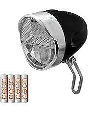 nean Fiets LED voorlicht fietslamp fietslamp met StVZO goedkeuring incl. batterijen, 30 lux
