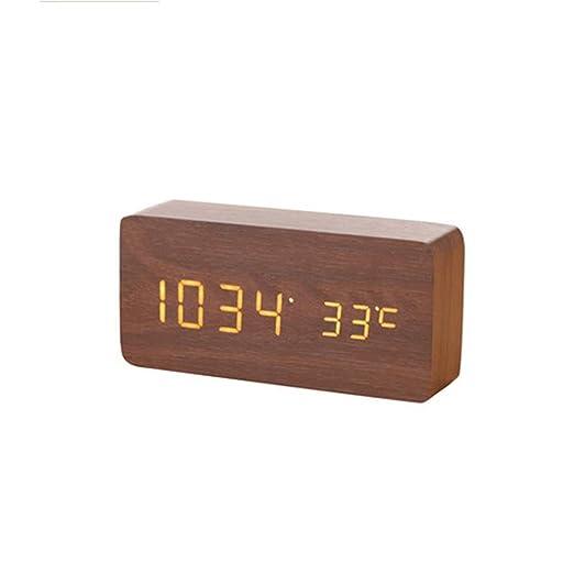 Zhangmeiren Reloj Digital Pequeño Despertador Electrónicos Mudos ...
