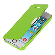 kwmobile Practical and chic FLIP COVER case for Apple iPhone SE / 5 / 5S in green