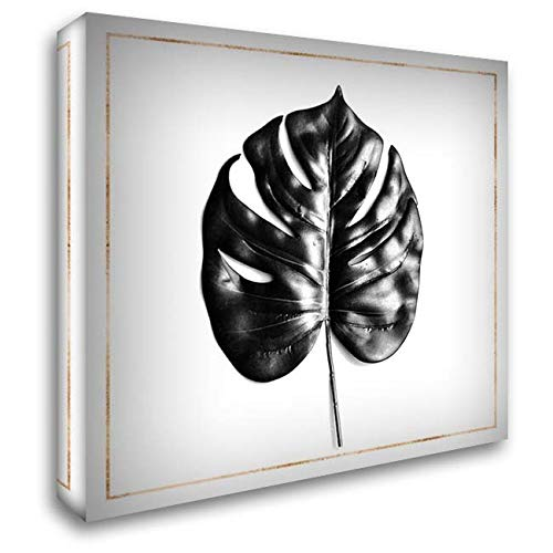 - Split Leaf PHILODENDRON with Gold Lines 28x28 Gallery Wrapped Stretched Canvas Art by Atelier B Art Studio