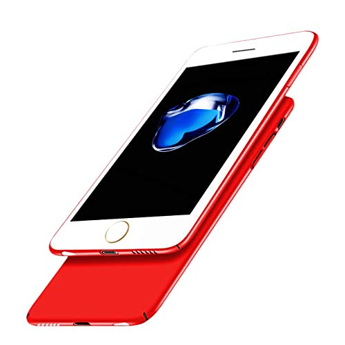 (iPhone 6S Case,iPhone 6 Case,iBarbe Matte Finish Ultra Thin & Light Slim Fit Hard Shell Solid PC Back Cover Coat Shockproof Protective,Skid-Proof,Anti-Scratch Cases for 4.7 inch iPhone 6/6s-Red)