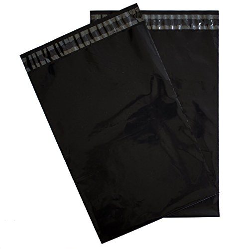 Black Poly Bags - Forlei 100 Pieces - 10x13 Black Self-Seal Poly Mailers. Tear-Proof, Water-Resistant and Postage-Saving Lightweight Plastic Shipping Envelopes/Bags 10