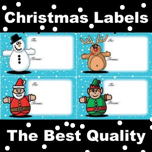 100 christmas labels stickers 4 types self adhesive labels top