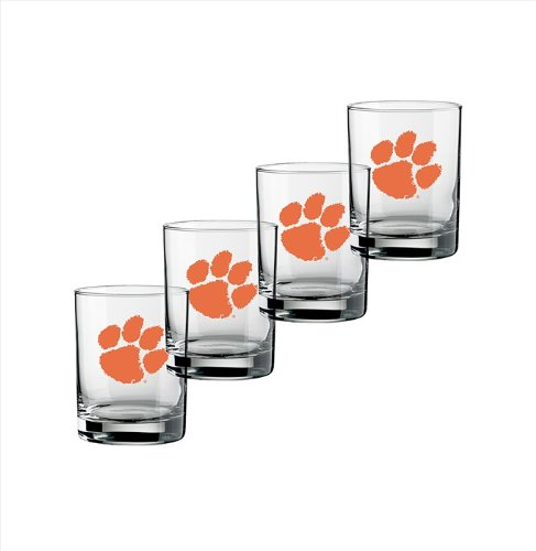 ncaa-clemson-tigers-set-of-4-double-old-fashioned-glasses-14-ounce
