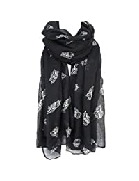 Winhurn Fashion Women Cute Owl Pattern Soft Long Voile Scarf Wrap Shawl