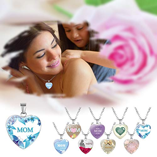 Ymibull Mother\'s Day Love Heart-Shaped Necklace Pendant Gifts for Mum Mother Daughter Love Heart Necklace Pendant (H)