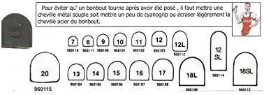 12X15Mm Ref 12L 4P Noir Embouts De Talons Femme