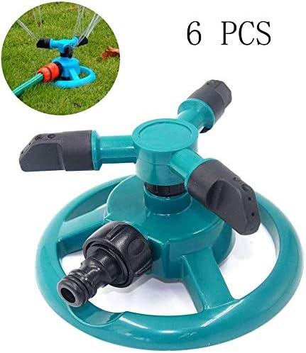 FANPING Jardín rociadores, agua duradero Rotary Tres tubos Mangueras de riego Sistema de riego de agua de 360 grados rotación automática de la boquilla del brazo, for el riego de sus plantas de jard