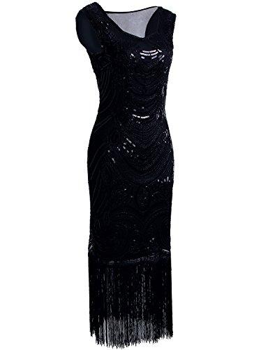 Vikoros - Vestido - Noche - Paisley - Sin mangas - para mujer negro