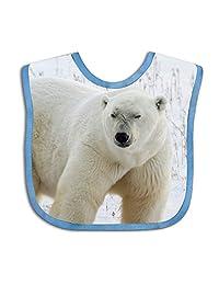 QIZI Unisex Baby Bandana Drool Bibs White Bear Cotton Neck Saliva Adjustable Towel Toddler for Girls Boys