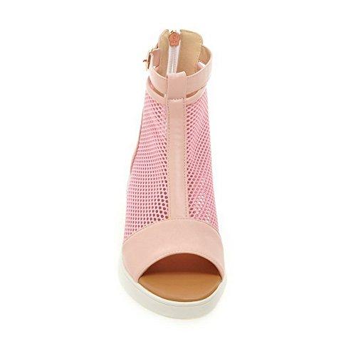 Vaaleanpunainen Polyuretaani Sandaalit Naiset Vetoketjun Leopardikuviolla Kovertaa Takaisin 1to9 vB0Ogqv