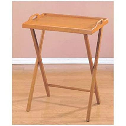 Amazon Com Wooden Folding Wood Tv Tray Dinner Table Coffee Stand