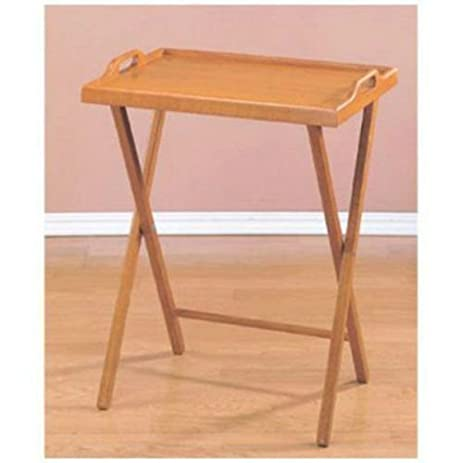Charmant Wooden Folding Wood TV Tray Dinner Table Coffee Stand Serving Snack Tea  Portable