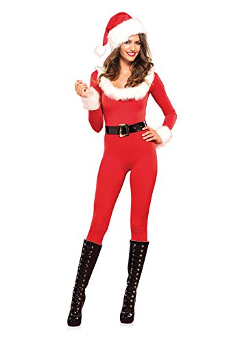 Leg Avenue Women's Santa Baby Costume, Red/White,