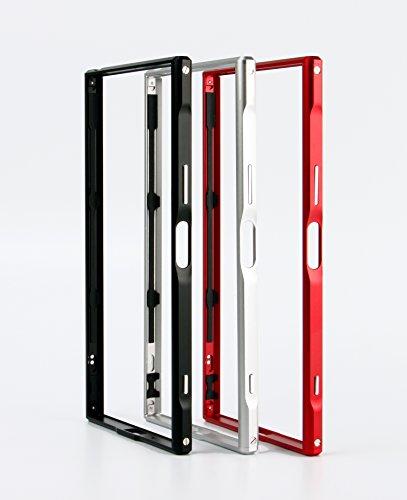 流産細分化する引き付けるsony Xperia XZ Premium 最新型【SWORD】アルミバンパー ケース ストラップホール付 ソニー エクスペリア XZ プレミアム メタル アルミバンパー (Sony Xperia XZ Premium, シルバー)