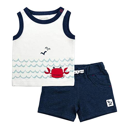 Baby Boy Clothing Set, 2-Piece Graphic Tank Top and Shorts Set, 3 Month