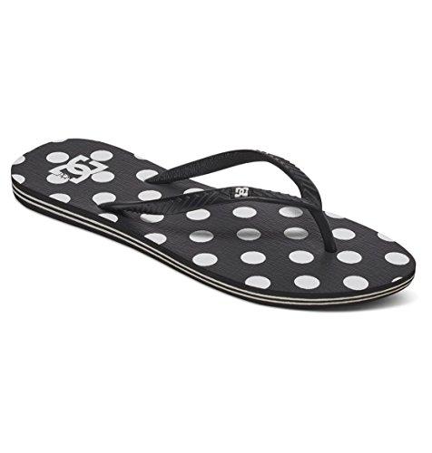 (DC Shoes Womens Shoes Spray Graffik - Flip-Flops - Women - US 6 - Black Black/White Print US 6 / UK 4 / EU 37)