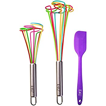 E4U Whisks make Baking Fun - Silicone Tornado Egg Beaters Whip up a Storm