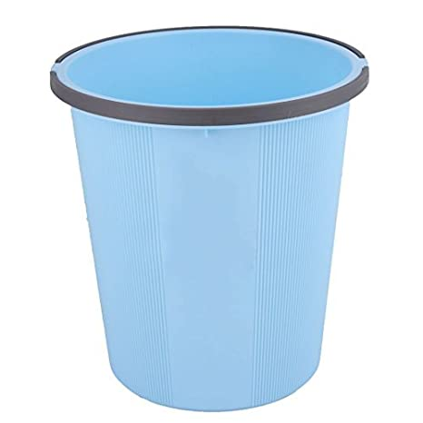 Amazon.com: eDealMax plástico Ministerio del Interior al lado del escritorio de basura Cubo de basura Papelera de basura Bote de basura Azul: Industrial & ...