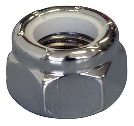 3-Pack 7//16-20-Inch The Hillman Group 943088 Chrome Nylon Insert Lock Nut