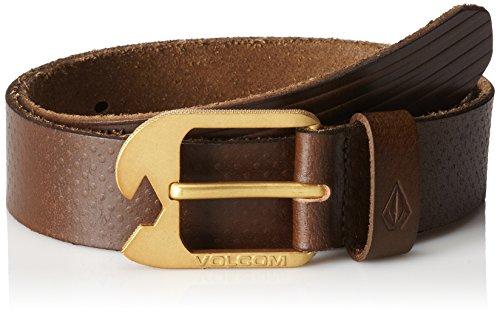 Volcom Men's Ostrich Leather Belt, Brown - Volcom Mens Belt Buckle Shopping Results