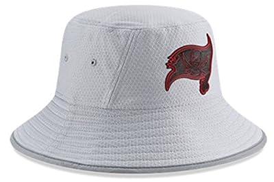 New Era Authentic Tampa Bay Buccaneers NFL 2018 Training Camp Sideline Bucket Hat - OSFM - Gray