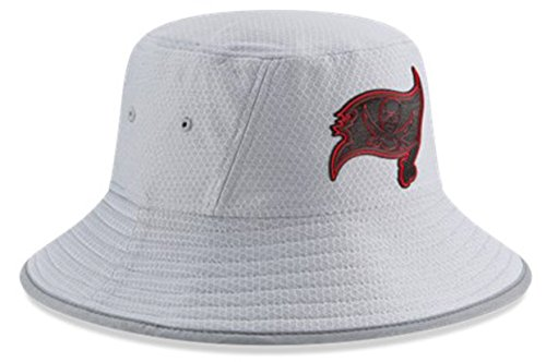 New Era Authentic Tampa Bay Buccaneers NFL 2018 Training Camp Sideline Bucket Hat - OSFM - Gray