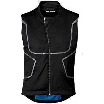 White BMW Genuine Motorcycle Motorrad Sleeveless protector jacket Size Blue EU S US S Color Black