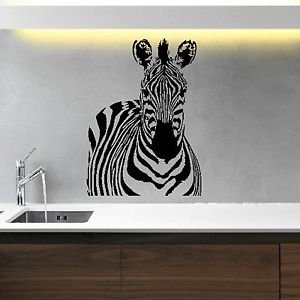 Iconic Stickers Zebra Animal Wall Sticker Art Decal Vinyl