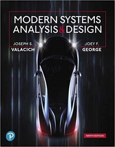 Modern Systems Analysis And Design 9th Edition Valacich Joseph S George Joey F 9780135172759 Amazon Com Books