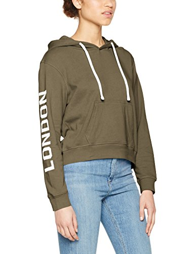 Only Onllondon L/s Short Hood Swt, Capucha Mujer, Verde (Kalamata), L
