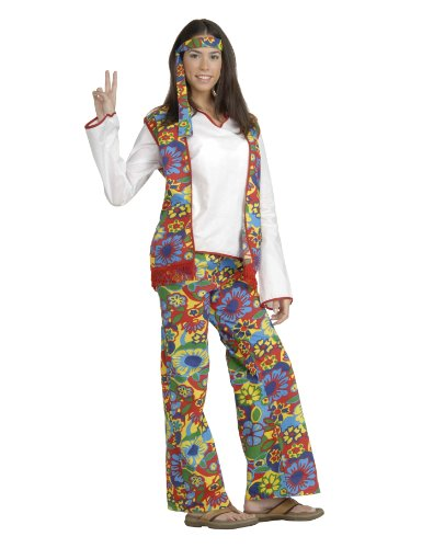 Forum Hippie Dippie Chick Woman's 60's Costume, Multi,