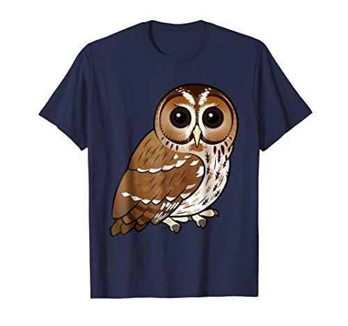 - Cute Cartoon Owl T-Shirt   Tawny Owl Bird Owl Lover T-Shirt