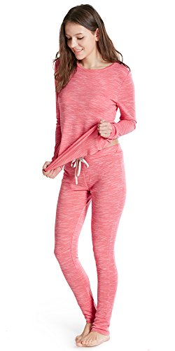Ink+Ivy Womens Cotton Comfy Modal Sleepwear Pajama Lounge Set Blush M (Womens Pajamas Pink Sets)