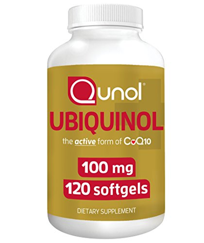 Qunol Ubiquinol CoQ10 100mg, Powerful Antioxidant for Heart and Vascular Health, Essential for Energy Production, Natural Supplement Active Form of CoQ10, 120 Count