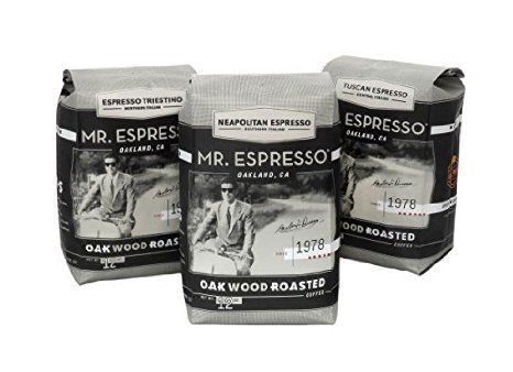 Mr. Espresso Coffee, Certified Organic by CCOF and Certified Fair Trade French Roast (Medium Roast Whole Coffee Beans)