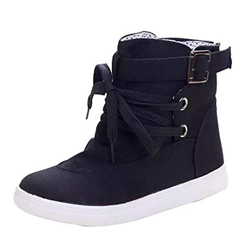 MIKA MIKA MIKA HOM Women's High Top Canvas Shoes Thick Female Fashion Outdoor Martin Boots B07GK2ZTMK Shoes c5265f