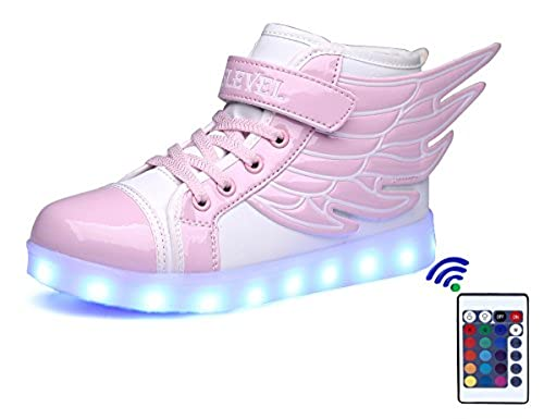 04. SLEVEL 16 Colors LED Light Up Shoes With Remote Flashing Sneakers for Kids Boys Girls